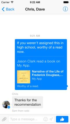Facebook-Message-Dialog