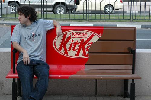 KitKat Half Eaten Bench