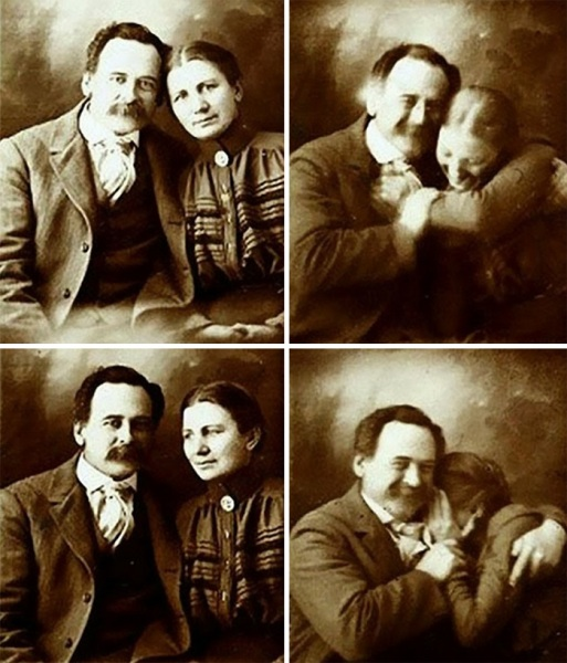 Fototessera di coppia (1890).